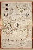 Buyenlarge 0–587–23666–3-g1827'portolan Karte der Türkei, Mittelmeer, Adria und die Agean' Giclée Fine Art Print, 45,7x 68,6cm