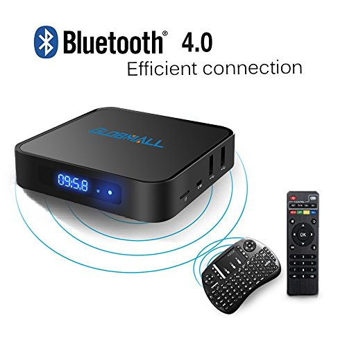 Globmall-Android-60-TV-Box-with-Mini-Tastiera-Wireless-2017-Model-X1-4K-Android-TV-Box-1GB-RAM-8GB-ROM-and-Bluetooth-40-with-Quad-Core-CPU-64-Bits-AmlogicS905X