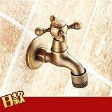 FREGHRT Neues Angebot EuropäIschen Stil Waschmaschine Wasserhahn in Die Wand Retro Outdoor Wasserhahn Torneira Do Banheiro Bad ZubehöR B Brass