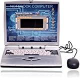 MJ TRADERS Laptop NoteBook Computer With 22 Activities & Games ( Includes Mouse) In Blue Color