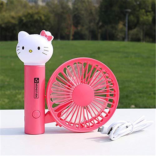 BBQBQ USB-Lüfter Mini Cartoon Fan Desktop USB Fan Nachtlicht Faltfächer 02 13 × 13,5 × 4,5 cm (Honda Lüfter 02)