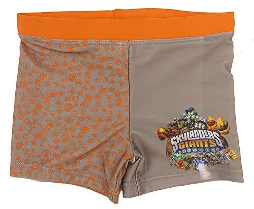 Kids Character Jungen SKYLANDER Giants Badehose Zwei Farben Alter 2 3 4 5 6 und 8 Jahre - grau, 110 (Skylanders Jungen Und)