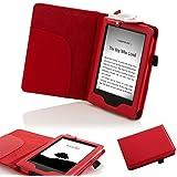 """Forefront Cases® E-reader Kindle, schermo touch da 6"""" (15,2 cm) 2014 Modello (Generazione precedente -7ª) Case Cover Custodia Caso Conchiglia in pelle con luce di lettura a LED - Protezione dispositivo completa"""