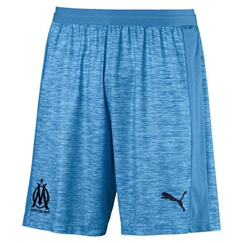 Puma Olympique de Marseille Short Original Without Inner Slip Pantalon De Jogging Homme, Bleu Azur White, FR : S (Taille Fabricant : S)