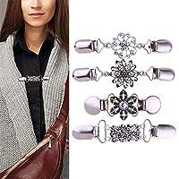 Sisit Cardigan Clip,Women Cardigan Sweater Blouse Shawl Clips Shirt Collar Retro Duck Clip Clasps