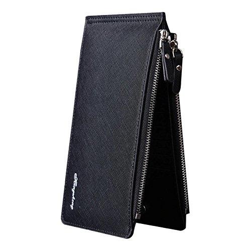 Chronex Women's Leather Multi Card Organizer Wallet Clutch With Zipper Pocket