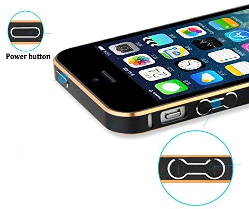 Dual Tone Ultra Thin Premium Metal Bumper Case Cover for iPhone 5 5S - Black