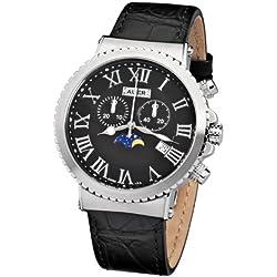 AUER Midnight Black AU-711-SBL Herrenchronograph SWISS ISA