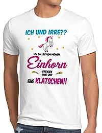 style3 ICH und IRRE? Einhorn absteigen klatschen Herren T-Shirt Einhörner Fun Spruch