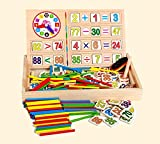 #4: Celebration™ Wooden Computation Operation Study Box for Basic Math Calculations for Children Ages 3+ Years, Multi Color