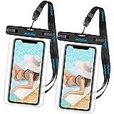 Mpow Wasserdichte Handy Hülle, 2 Stück Wasserdichte Hülle,Staubdichte,Stoßfeste, Schneeschutzanlage Wasserdichte Hülle für iPhone SE/6s/Plus/6/5s/5/5C,Galaxy S7,Huawei P8 usw bis zu 6 Zoll