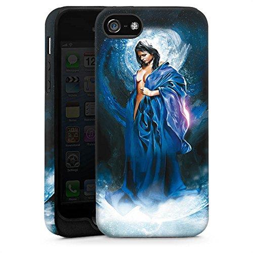 Apple iPhone 5s Housse Étui Protection Coque Femme Femme Fille Cas Tough brillant
