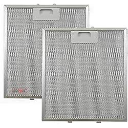 """Kit de 2 unidades. Filtros de aluminio para campanas extractoras de 267 x 305 x 9 - Adaptabilidad:""""Elica""""."""