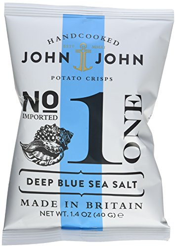Preisvergleich Produktbild John & John Potato Crisps Deep Blue Sea Salt 40g,  6er Pack (6 x 40 g)