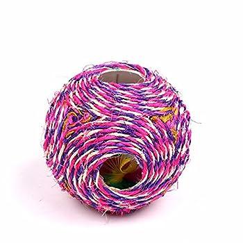 Voix de jouet du chat de six trous du ballon Cat Scratch sisal ,Rose rouge
