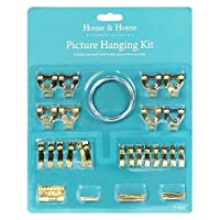 ValuePound MUCHO 60 PIECE PICTURE HANGING KIT FRAME WALL HOOKS WIRE NAILS TACKS CANVAS MIRROR