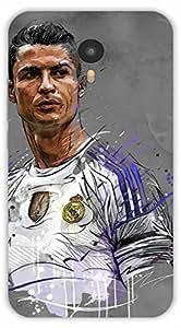 Crazy Beta Cristiano ronaldo the great footballer fifa Printed mobile back cover case for Yu Yunicorn