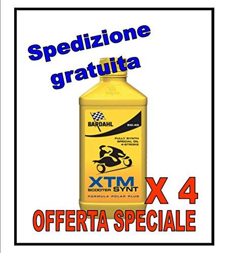 N. 4 PZ BARDAHL XTM SYNT SCOOTER 5W40 - Olio moto 4 tempi ad alte prestazioni