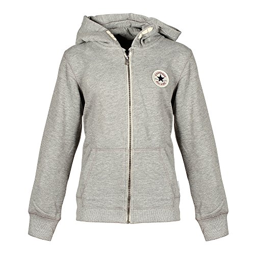 Converse Grau Hoodie Kinder Sweatshirt Kapuzenpullover, Größe Kleidung Kinder:XL (158-170cm)