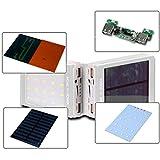 Hunpta solaire LED portable à double USB Power Bank Chargeur de batterie externe...