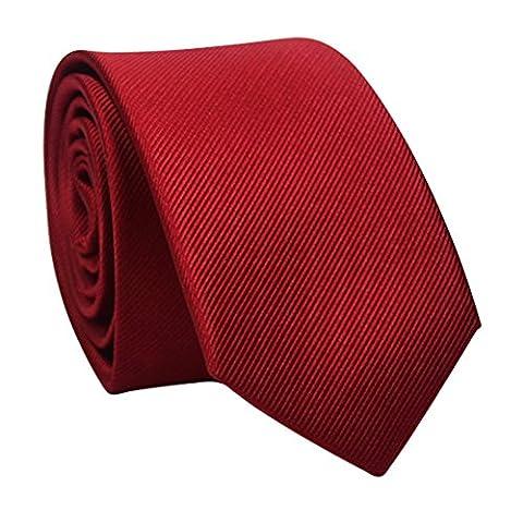 Zhhlaixing Cravate de mode Mens Solid Color Formal Bussiness Necktie Tie Perfect Gift