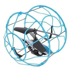 Hélicoptère radiocommandé Air Hogs : Roller Copter : Bleu