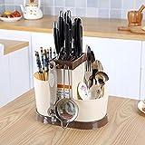 #4: Woogor 1 Pc multi function creative kitchen shelving rack dish rack Drain chopsticks rack storage rack creative plastic cutlery, Random Color