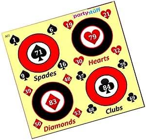 Party Stuff Playing Cards Theme Tambola Housie Tickets - Playing Cards kukuba 11 - Designer Kukuba (12 Cards) | Kitty Games