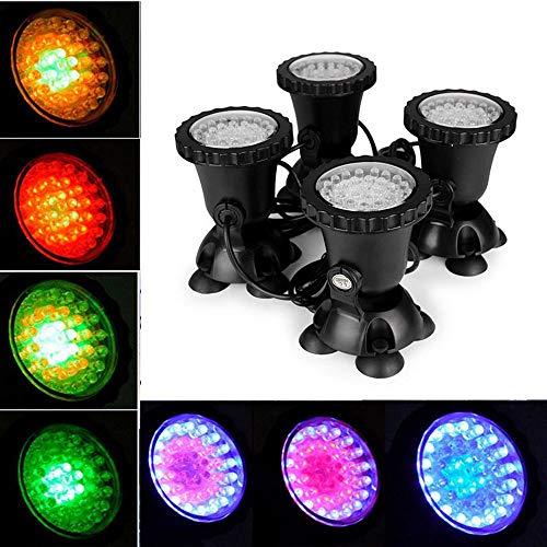 Aotoba Unterwasser-LED-Licht, wasserdicht, batteriebetrieben, mehrere Farbwechsel, wasserdicht, dekoriert, beleuchtet, Teich, RGB, für Aquarien, Basis, Badewanne, Dekoration -
