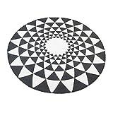 Creative Light Runde einfache und dauerhafte Rutschfeste Teppich geometrische Muster schöne und großzügige Schlafzimmer Computer Rotation Kissen Teppich (größe : 80cm)