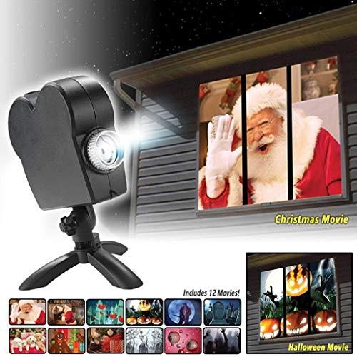 Fenster Projektor Licht Star Dusche Fenster Wunderland LED Nachtlampe Draußen Drinnen Weihnachtsfeier Dekoration Beleuchtung Scheinwerfer:verwandelt Ihr Fenster in Festliche Filmbildschirme