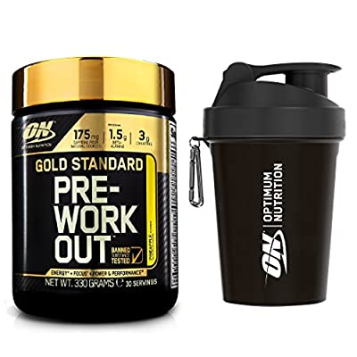 Optimum Nutrition Gold Standard Pre-Workout Supplement, Pineapple, 330 g with Shaker by Optimum Nutrition