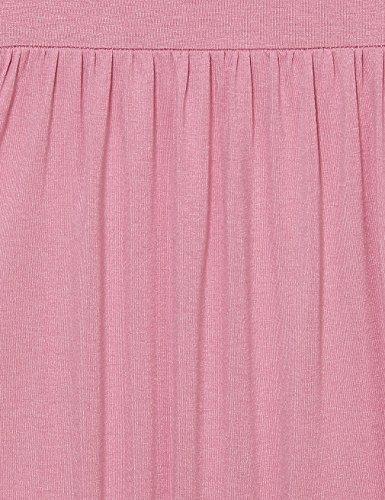 Lotusmile -  Maglia a manica lunga  - Tunica - Floreale - Collo a U  - Donna Dark Pink
