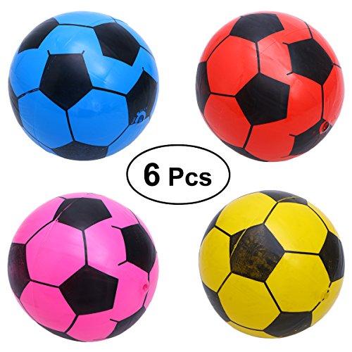 TOYMYTOY Balón de Fútbol Bolas Pelotas Juguetes Deportivos para Niños Color al Azar 6 Piezas