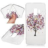 iAdvantec Handyhülle für Samsung Galaxy S9, Gemalt Hülle, TPU Case Schale Schutzhülle Handytasche Stoßdämpfung Cover in Kleiner Blumenbaum