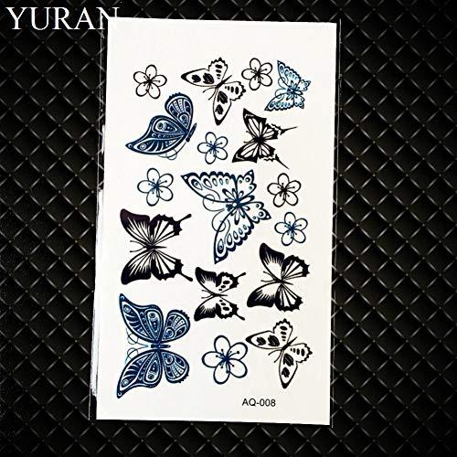 GHHCG Black Dreamcatcher Tattoo Sticker Frauen Tribal Makeup Tattoos Blume Wasserdicht Tatoo Dream Catcher, Gaq008