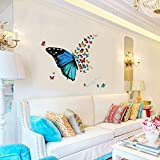 #10: Jaamso Royals ' Jambo Dynamite Colorful Butterflies' Wall Sticker (30 cm X 60 cm)