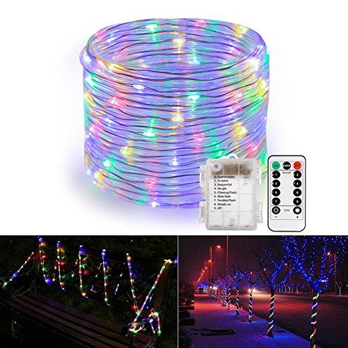 B-right 120 LEDs Lichterschlauch, LED Lichterkette bunt, Batteriebetriebe , IP44 Wasserdicht, Innen- und Außen Weihnachtsbeleuchtung für Weihnachten, Hochzeit, Party, Weihnachtsbaum