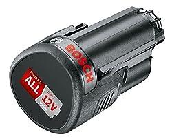Bosch Wechsel-Akku PBA 12 Volt (Lithium-Ionen, 2,5 Ah), 1 Stück, 1600A00H3D