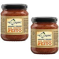 Mr Organic Salsa de Pesto de Pimiento Rojo 130g Pack de 2