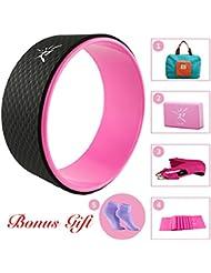 La suite de roue de yoga pour les d¨¦butants en yoga include roue de yoga Dharma, d¨¦marrage manuel, bande de r¨¦sistants, brique de yoga ,ceinture de yoga et pliables sac pratique 33 x13cm
