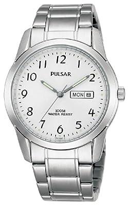 Pulsar Collection Classic PJ6025X1 - Reloj de caballero de cuarzo, correa de acero inoxidable color plata de Pulsar