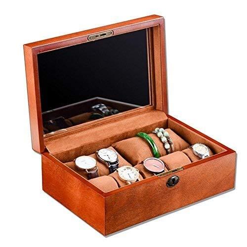 Uhr Aufbewahrungsbox, Europäische Massivholz Uhrenbox High-End Armband Armband Aufbewahrungsbox Display Box Mit Schloss Armband Schmuckschatulle