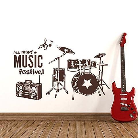 Drums,musik,piano zug layout fensteraufkleber/zugstange,ktv shop fensteraufkleber-C