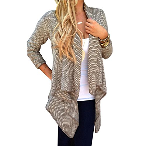 Giacca Moda, Reasoncool Donne Cardigan caldo del rivestimento Outwear Tops (M-Busto:, Cachi)