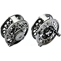 CNC Aluminium Alloy Fly Reel 5/6 in Gunsmoke for Salmon or Trout Fly Fishing.