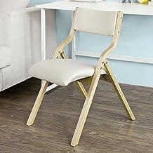 SoBuy® Sillla plegable, sillla de madera, silla de cocina, silla de comedor, FST40-W, ES