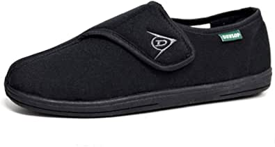 Dunlop Men's Touch Fastening Adjustable Comfort Slippers Sizes 6-12