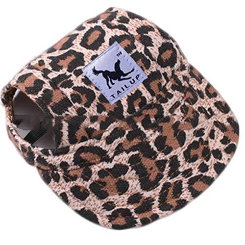 Ruiyiheng Baseballmütze für Hunde und Welpen, Schirmmütze, Sonnenmütze für den Außenbereich, Sommer, Hut, für Zuhause, Dekoration - Leopard Pattern-s - Hat Leopard Womens