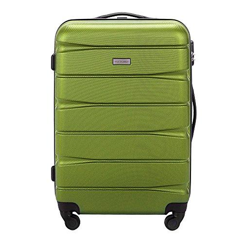 WITTCHEN Mittlerer Koffer | Farbe: Grün | Material: ABS | Größe: 67 x 44 x 26 cm | Gewicht: 3.8 kg | Kapazität: 62 L | Sammlung: Groove Line II | 56-3A-362-80